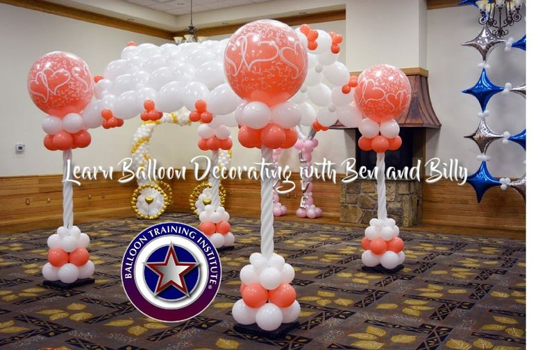 Balloon training institute main operate your own balloon for Balloon decoration courses dvd